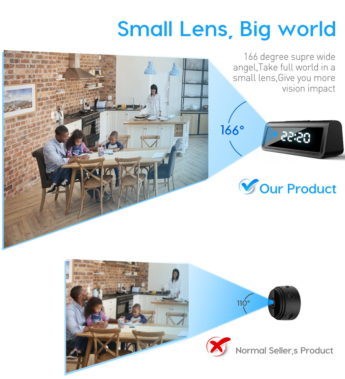 4K Clock Camera Wireless WIFI Micro Cam IR Night View Alarm Camcorder Digital Clock Video Mini Camera DVR Hidden TF Card