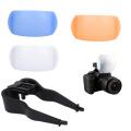 1Set New Pop-Up Flash Diffuser Cover for DSLR SLR Camera Canon Nikon 3 Colors