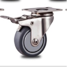 2` inch Stainless steel bracket flatTPR  casters swivel without  brakes