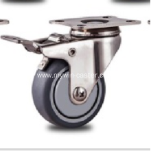 1.5 inch Stainless steel bracket flat PT casters with brakes