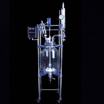 80L laboratory double jacketed agitated glass reactors