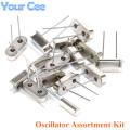 Crystal Oscillator Assortment Kit For 11.0592M 12M 32.768K(3*8mm) HC-49S 16M 24M 25M 8M 6M 15Value x 1PCS=15 PCS