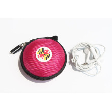 Portable zipper case for earphone