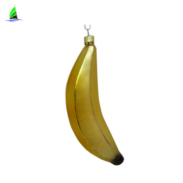 banana shape glass fruit ornament for Christmas