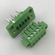 5 pin through wall mounting pluggable terminal block