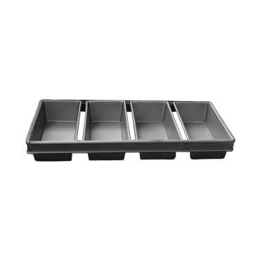 Aluminized Steel 4 Strapped Loaf Pan Set