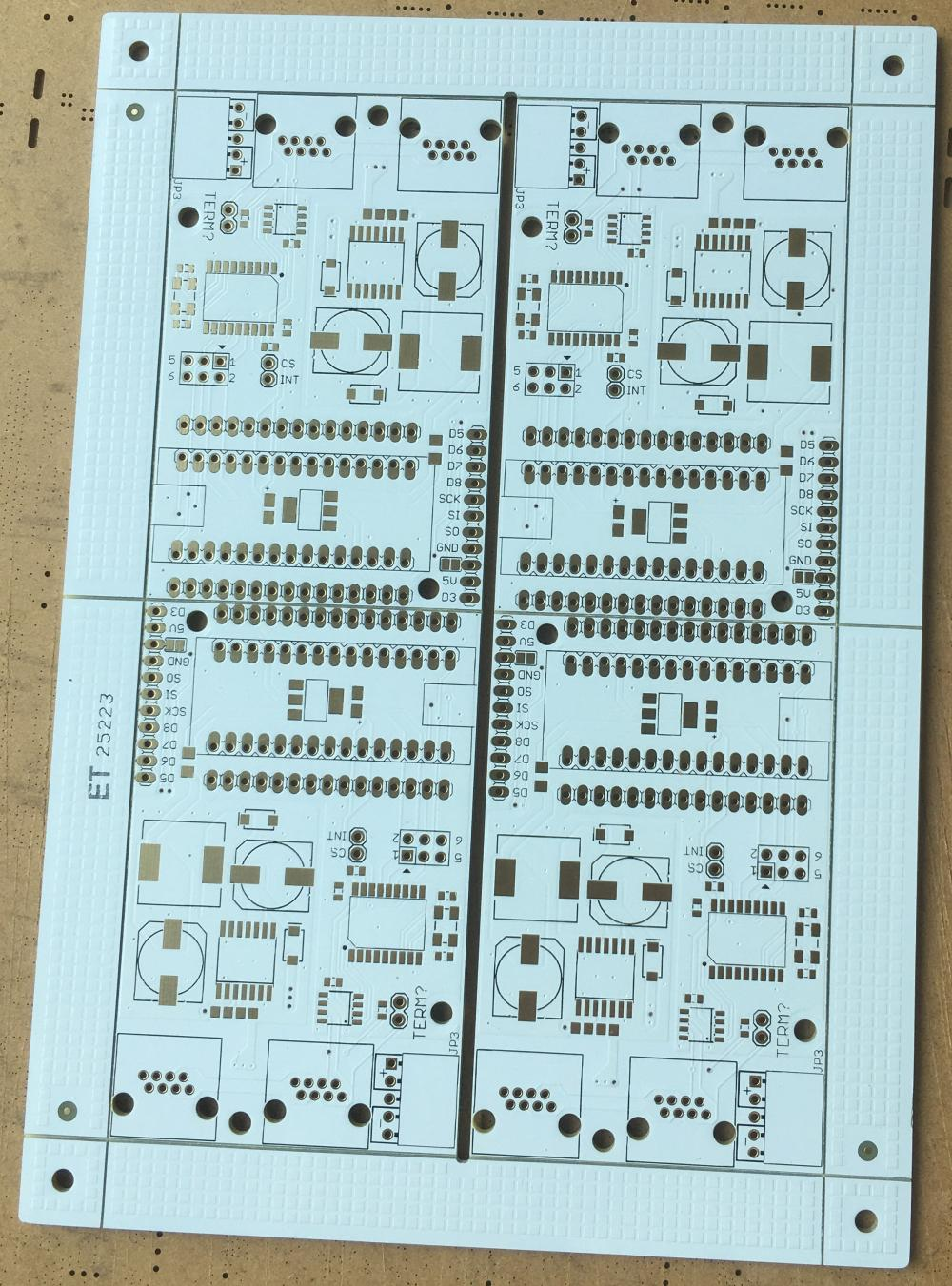 2 layer white solder PCB
