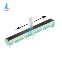 5pcs B103 B10K Ohm Duplex Potentiometer Mixer Fader 75MM SC6080GH Slide Adjustment Double Rotary Carbon Film Resistor