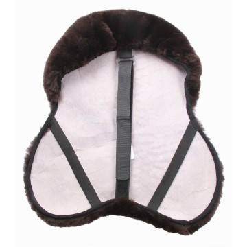 Horse equipment sheepskin saddle cover