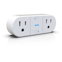 UL Listed Dual Wall WIFI Smart socket