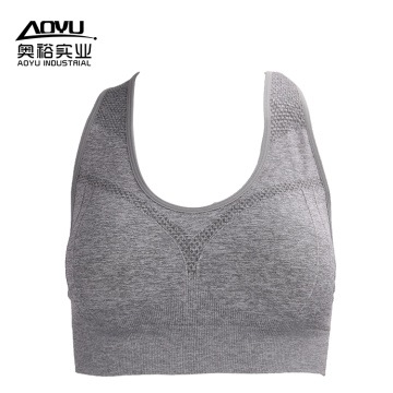 Young Sexy Women Seamless Sports Yoga Bra
