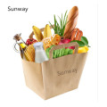Heavy duty grocery paper bags with handles