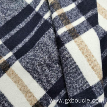 Boucle style Plaid design Fabric