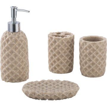 Hotel Decoration Resin Bathroom Accessory Set