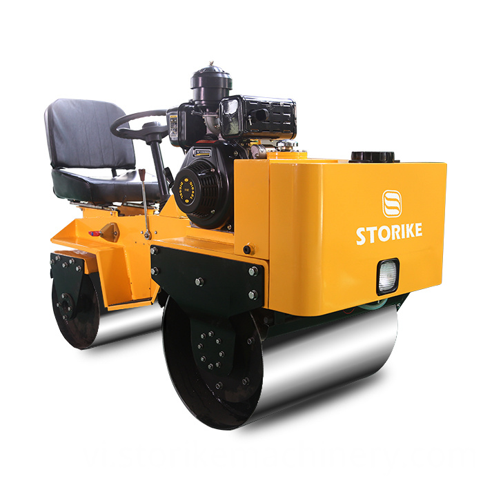 800KG ride on gasoline engine road roller (2)