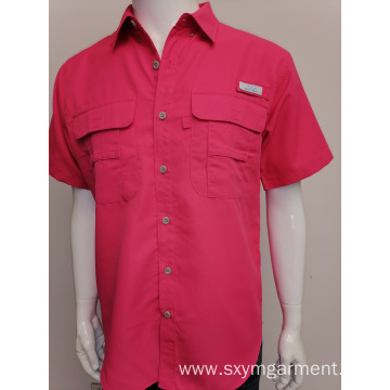 Mens solid fisherman as shirt
