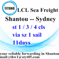 Shantou to Sydney LCL Consolidation Freight agent