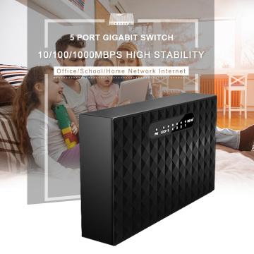 5 Port Gigabit Network Switch Desktop Switch 10/100/1000Mbps Fast Ethernet Network Switch Full-Duplex & Half-Duplex LAN