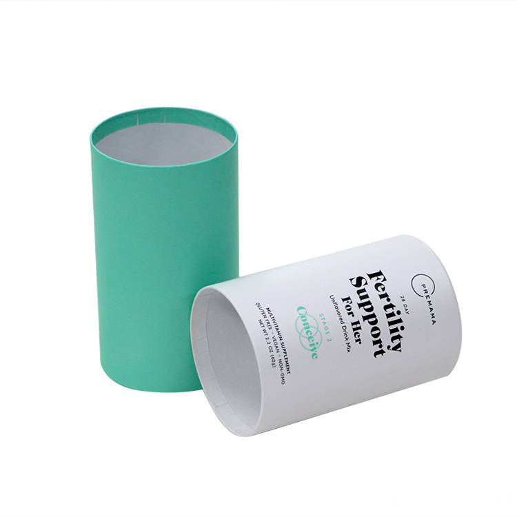 Recycle Pantone Color Printing Paper ylinder Packaging Box