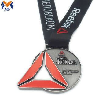 Custom silver metal running race and medals