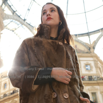 Women Mink Fur Coat