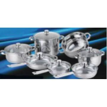 Thin 14PCS Stainless Steel Cookware Set