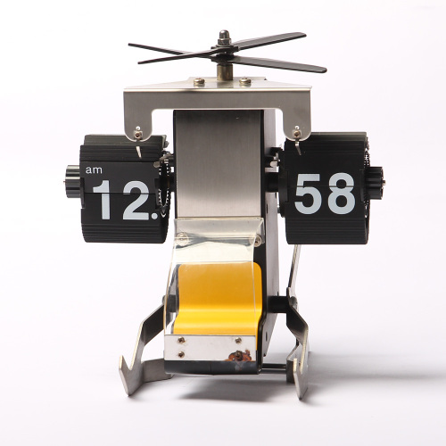 Flip Helicopter Clock for Desk Decor
