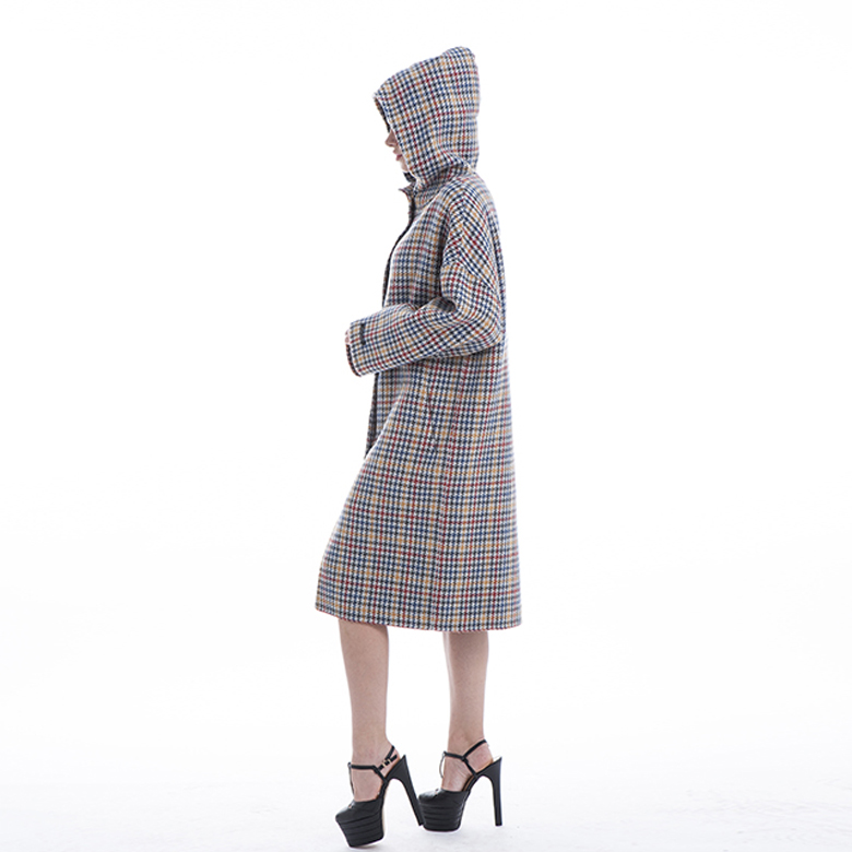 2019 Colour Checked Cashmere Winter Outwear