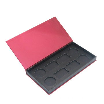 Red color face powder cardboard packaging