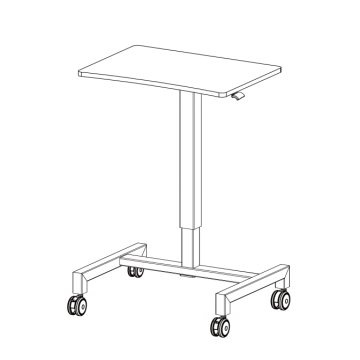 Office Furniture Pneumatic Height Adjustable Standing Desk