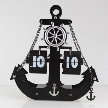 Huge Anchor Flip Metal Clock