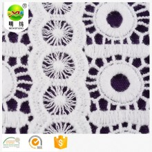 100% cotton chemical embroidery lace dress fabric