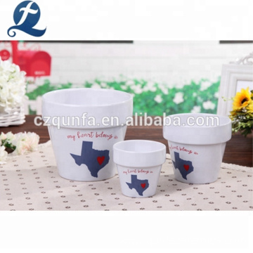 Factory Cheap Decoration Vintage Style Ceramic Garden Flower Pots