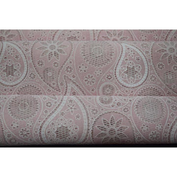 Cotton Polyester Burn Out Bonding Lace Fabric