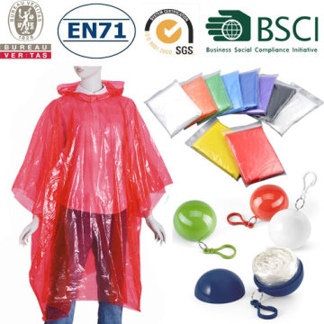 emergent disposable pe raincoat