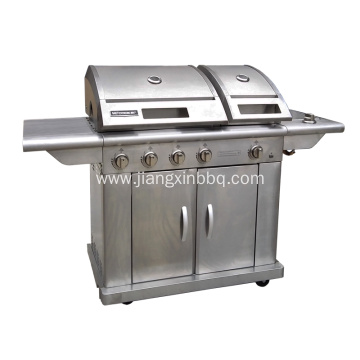 5 Burners Stainless Steel Nature Gas BBQ