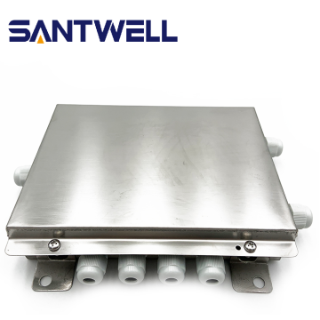 Stainless steel junction box with weighing system