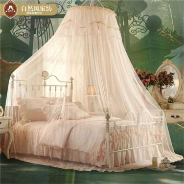 Beautiful Fiber Glass Double Bed Circular Curtains Canopy