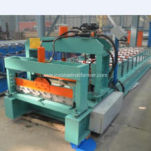Myanmar 740 Glazed Roofing Tile Roll Forming Machine