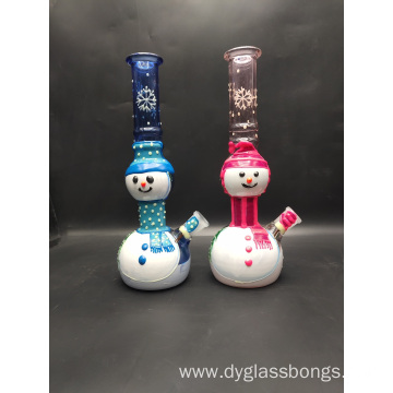 Happy Christmas Doll Style Glass Smoking Bongs