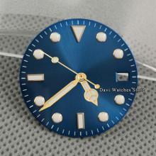 28.5mm Sterile Blue Watch Dial + Watch Hands Luminous fit ETA 2836 2824 NH35 Miyota 8215 821A,DG2813 3804 Movement Watch Parts