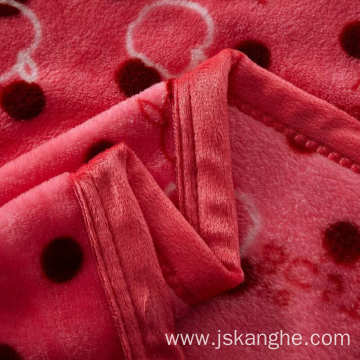 Printed double-sided coral fleece