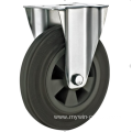 160mm industrial rubber    rigid casters without brakes