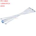 10PCS FPC Ribbon Flexible Flat CABLE PITCH 1.0MM 200MM A-Type 4P 6P 8P 10P 12P 16P 20P 30P 40P FFC WIRE 6/10/12/16/20/30/40 pin