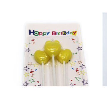 Kleurendruk Birthday Cartoon Candle met Stickers