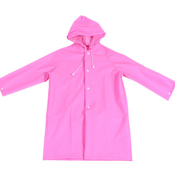PEVA rain poncho recycle raincoat with buttons