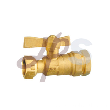 Straight type brass lockable ball valve
