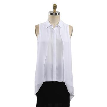 Women White Shirt Sleeveless Shirts