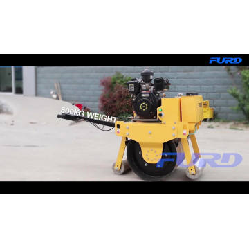 500KG Soil Sand Manual Vibrating Road Roller