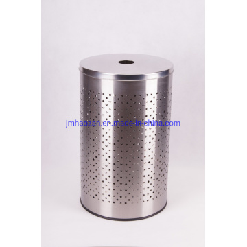 Stainless Steel Laundry Basket with Stainless Steel Lid